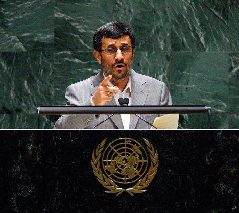"""Речь иранского президента на Конференции ООН """"Дурбан-2"""", посвящённой проблемам расизма, 20 апреля в Женеве."""